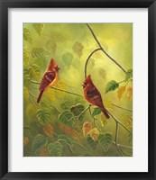 Framed Autumn Cardinals