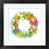 Framed Wreath With Dried Flowers