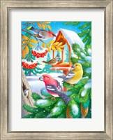 Framed Winter Birds