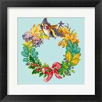 Framed Wreath with Bird