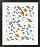 Framed Fall Floral Pattern