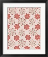 Framed Pink Swirl Pattern