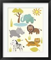 Framed Safari Zoo