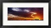 Framed Colourful Sunset