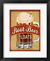 Framed Root Beer Float