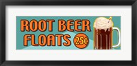 Framed Root Beer Floats 25 Cents Oblong