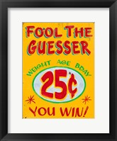 Framed Fool The Guesser Distressed