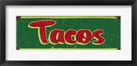 Framed Tacos Dk Green