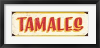 Tamales Cream Framed Print