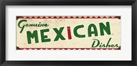 Genuine Mexican Cream Framed Print