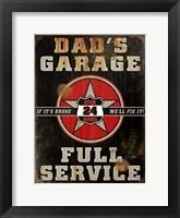 Framed Dads Garage Vert