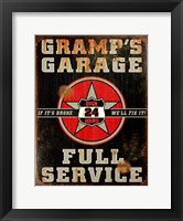Framed Gramps Garage Rusted Vertical