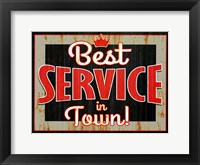 Framed Best Service