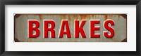 Framed Brakes Rusted Garage