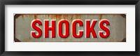 Framed Shocks Rusted Garage