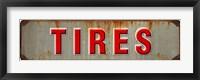 Framed Tires Rusted Garage