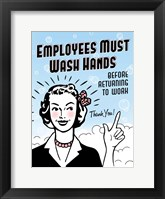Framed Employees Wash Hands