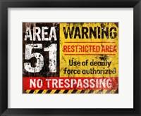 Framed Area 51 Horiz
