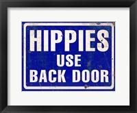Framed Hippies Back Door