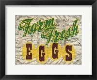 Framed Farm Fres Eggs
