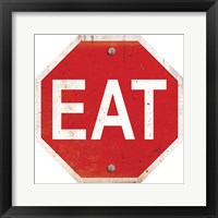 Framed Eat Stop Sign