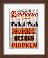 Framed Barbeque Hickory Smoked Corregate Metal