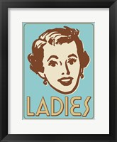 Framed Ladies Turquoise