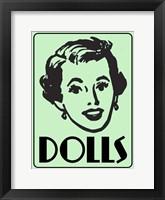 Framed Dolls Green