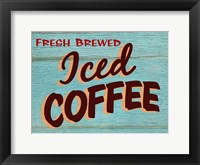 Framed Iced Coffee Rustic - Rectangle