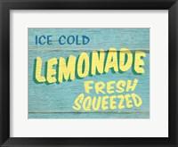 Framed Lemonade Rustic - Rectangle
