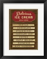 Framed Ice Cream Board -Wood