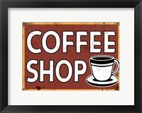 Framed Coffee Shop