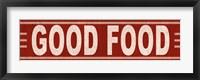 Good Food Framed Print
