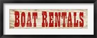 Framed Boat Rentals