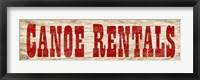 Framed Canoe Rentals A