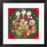 Framed Bears Santa's Helpers