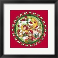 Framed Christmas Bears 1