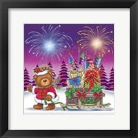 Framed Christmas Fireworks 2