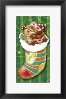 Framed Christmas Stockings And Bears 1
