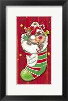 Framed Christmas Stockings And Bears 2