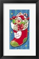 Framed Christmas Stockings And Bears 4
