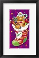 Framed Christmas Stockings And Bears 5