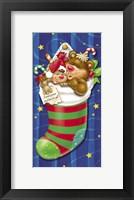 Framed Christmas Stockings And Bears 7