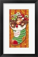 Framed Christmas Stockings And Bears 8