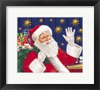 Framed Santa Is Happy