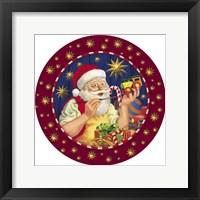 Framed Santa Painter