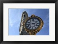 Framed Flatiron and Clock