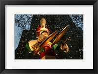 Framed Rockefeller Center Toy Soldier With Cymbals