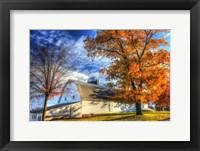 Framed Autumn Barns