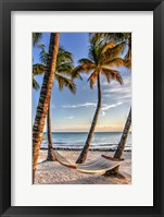 Framed Four Palm Hammock